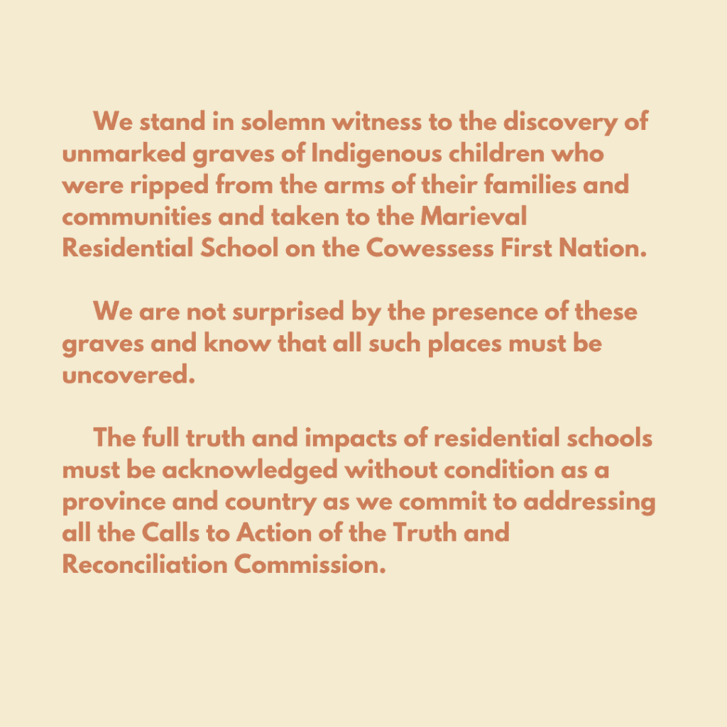 Residential School Statement